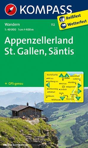 Appenzellerland St Gallen Sntis Wanderkarte GPS genau 140000 KOMPASS Wanderkarten - Appenzellerland - St. Gallen - Säntis: Wanderkarte. GPS-genau. 1:40000 (KOMPASS-Wanderkarten)